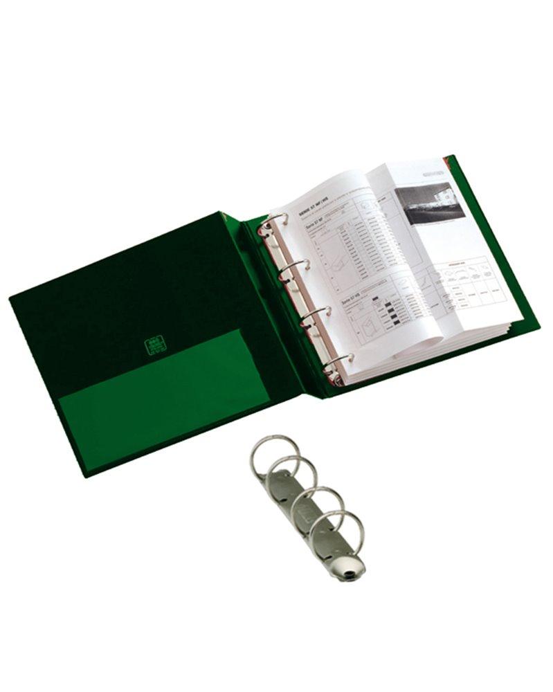 Raccoglitore STELVIO 25 A4 4R verde 22x30cm SEI ROTA